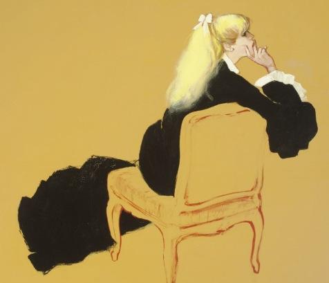 A Portrait of a Seated Woman by Rene Gruau