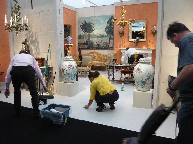 moving in at the International Fine Art and Antiques Dealers show